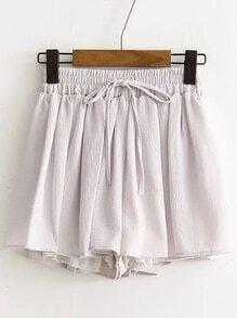 Shorts de chifón con cordón - gris