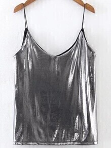 Metallic Silver Cami Top