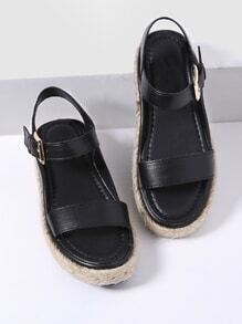 Sandales à talons noirs