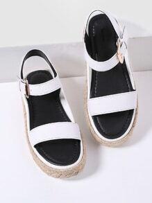 White Strappy Espadrille Sandals