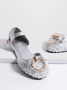 Planos ballet con detalle de anillo - plateado