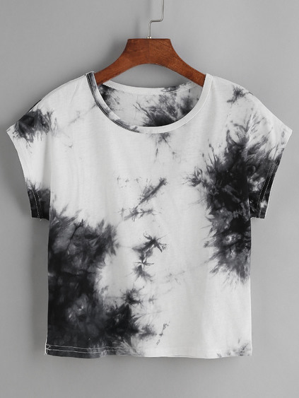 Camiseta con estampado de tie dye - color block