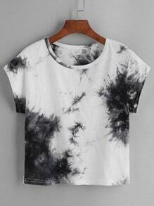 Color Block Tie Dye T-shirt