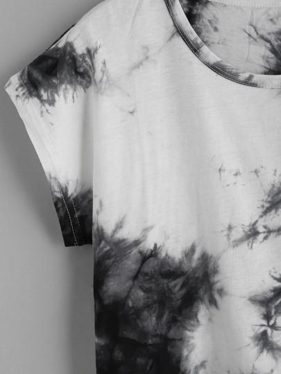 Romwe / Color Block Tie Dye T-shirt