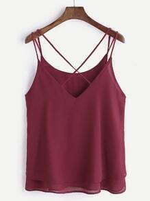 Burgundy Cross V Retour Cami Top