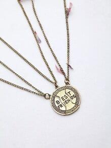 Letter Detail Friendship Chain Necklace