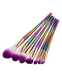 Set cepillo de maquillaje delicado - multicolor