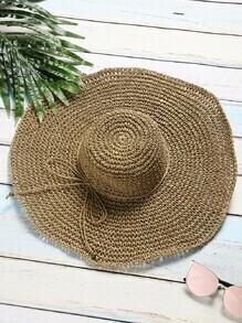 Sombrero de paja  café