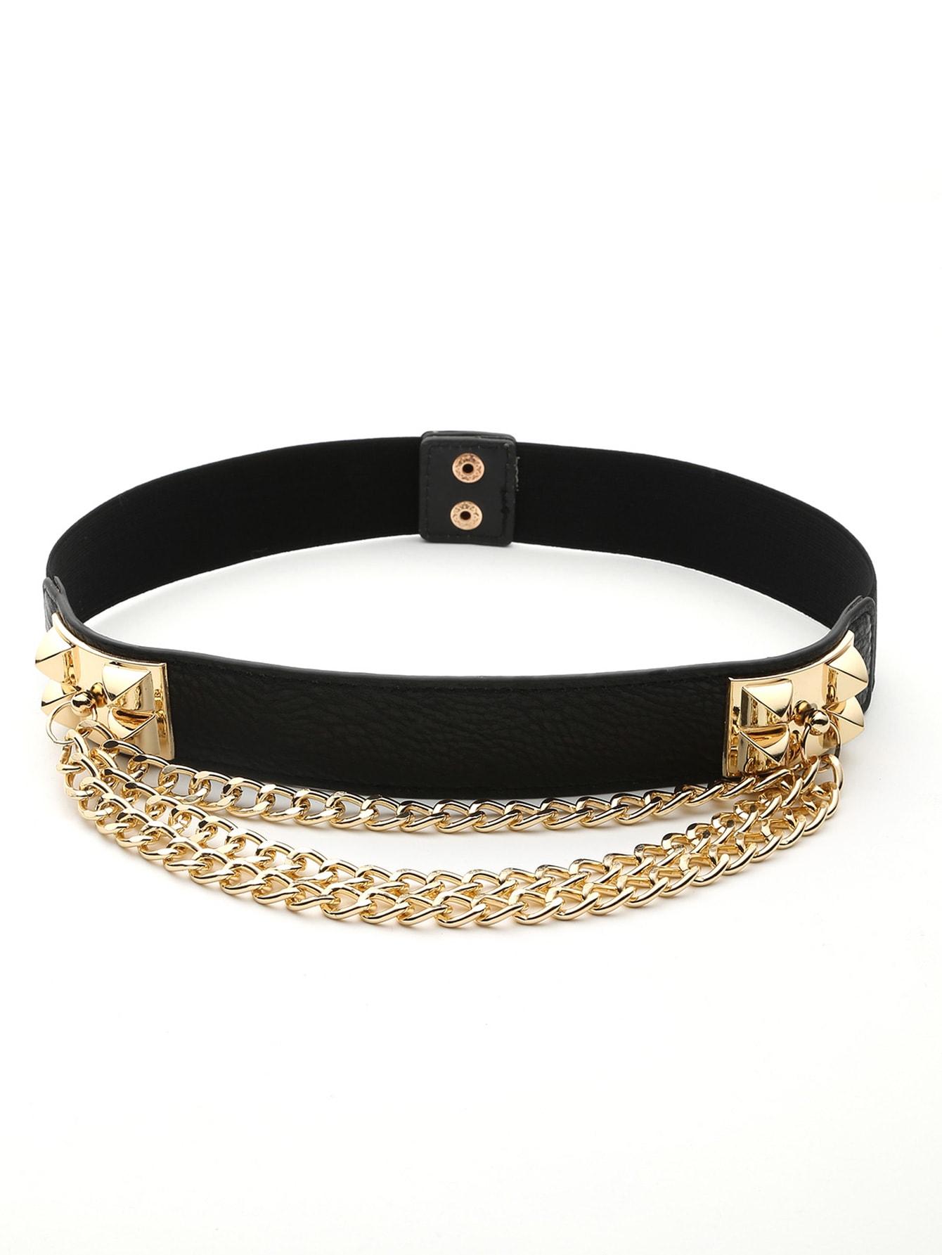 Layered Chain Detail Belt