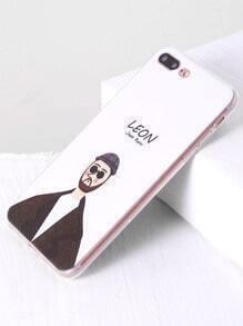 Etui mignon Leon Print iPhone 7 Plus