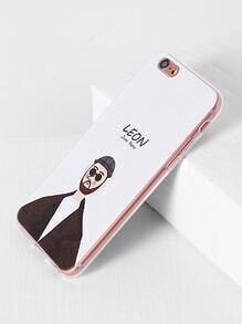 Étui mignon de l'iPhone 6 / 6s d'impression de Leon