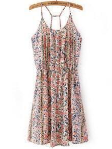 Multicolor Floral Spaghetti Strap Dress