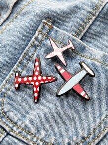 Set broche en forma de avión - rojo