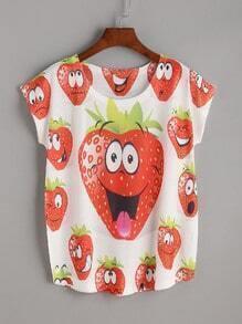 T-shirt imprimé fraise