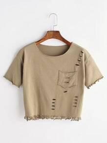 T-shirt ras du cou avec poche