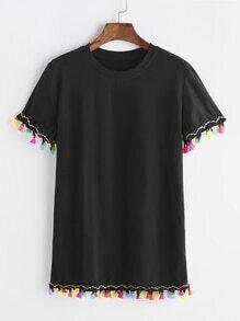 Color Tassel T-shirt