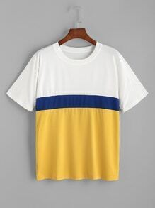 Camiseta casual en color block