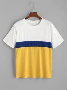Color Block Casual T-shirt