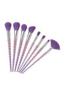 Lila Spirale Design Make-up Pinsel Set