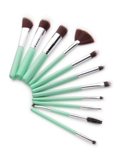 Mint Green Delicate Makeup Brush Set