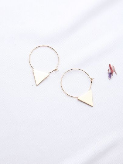 Gold Triangle Hoop Ohrringe