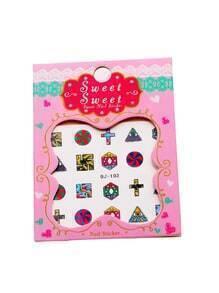 Set pegatinas de uñas con estampado geométrico