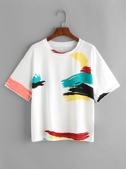 Camiseta con estampado - blanco
