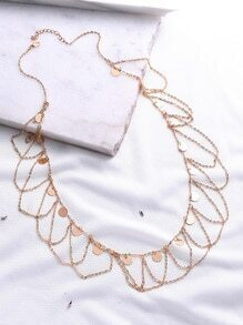 Cadena de cintura con detalle de monedas - dorado