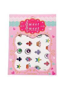 Set pegatinas de uñas con corona