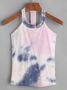 Top con estampado tie dye