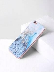 Funda para iPhone 6/6s con estampado de mármol - azul