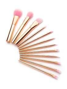 Set brocha de maquillaje delicada - dorado