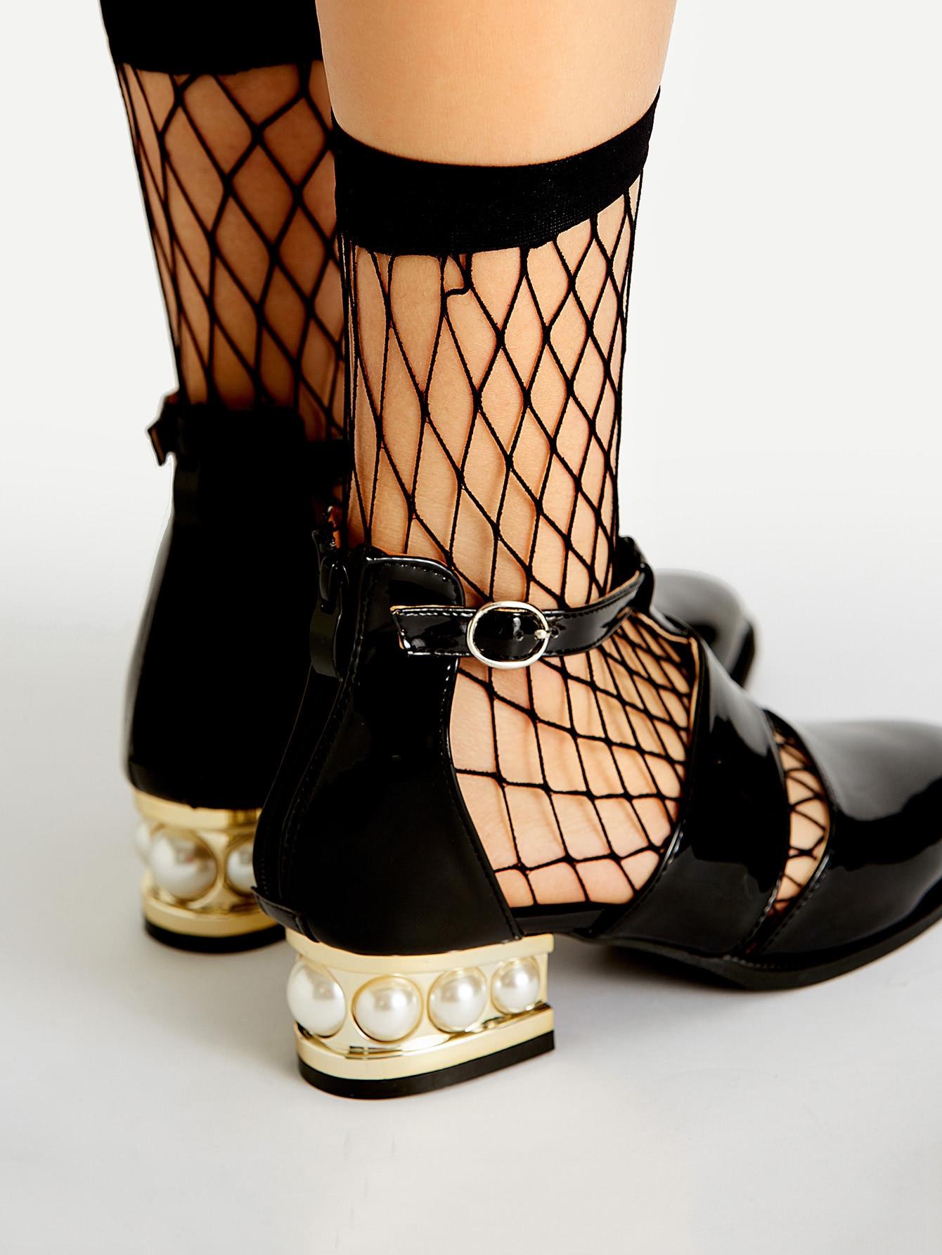Черные Ажурные Носки