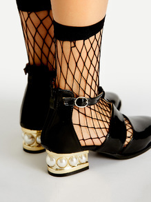 Calcetines en rejilla - negro