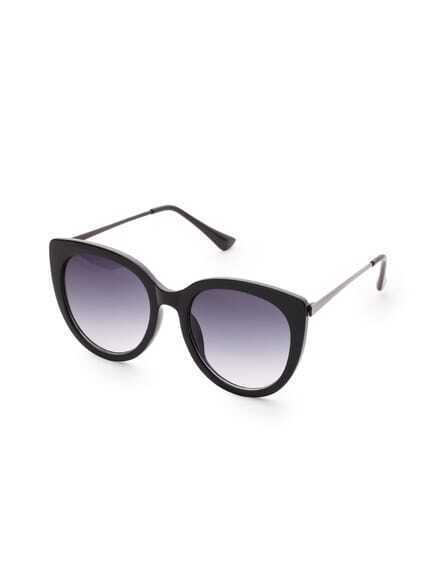 Black Frame Cat Eye Sonnenbrillen