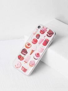 Bocados y caja del iPhone 7 de la impresión de la