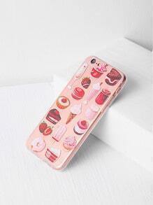 Bocados y caja del iPhone 6 / 6s de la impresión de la