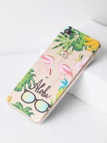 Flamingo y gafas de sol Imprimir iPhone 7 Plus Case