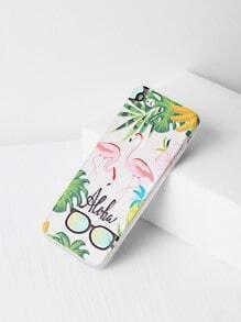 Flamingo And Sunglasses Print iPhone 7 Case