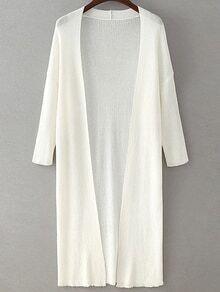 Drop Shoulder Seam Longline Cardigan