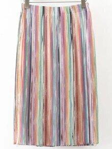 Falda plisada con cintura elástica