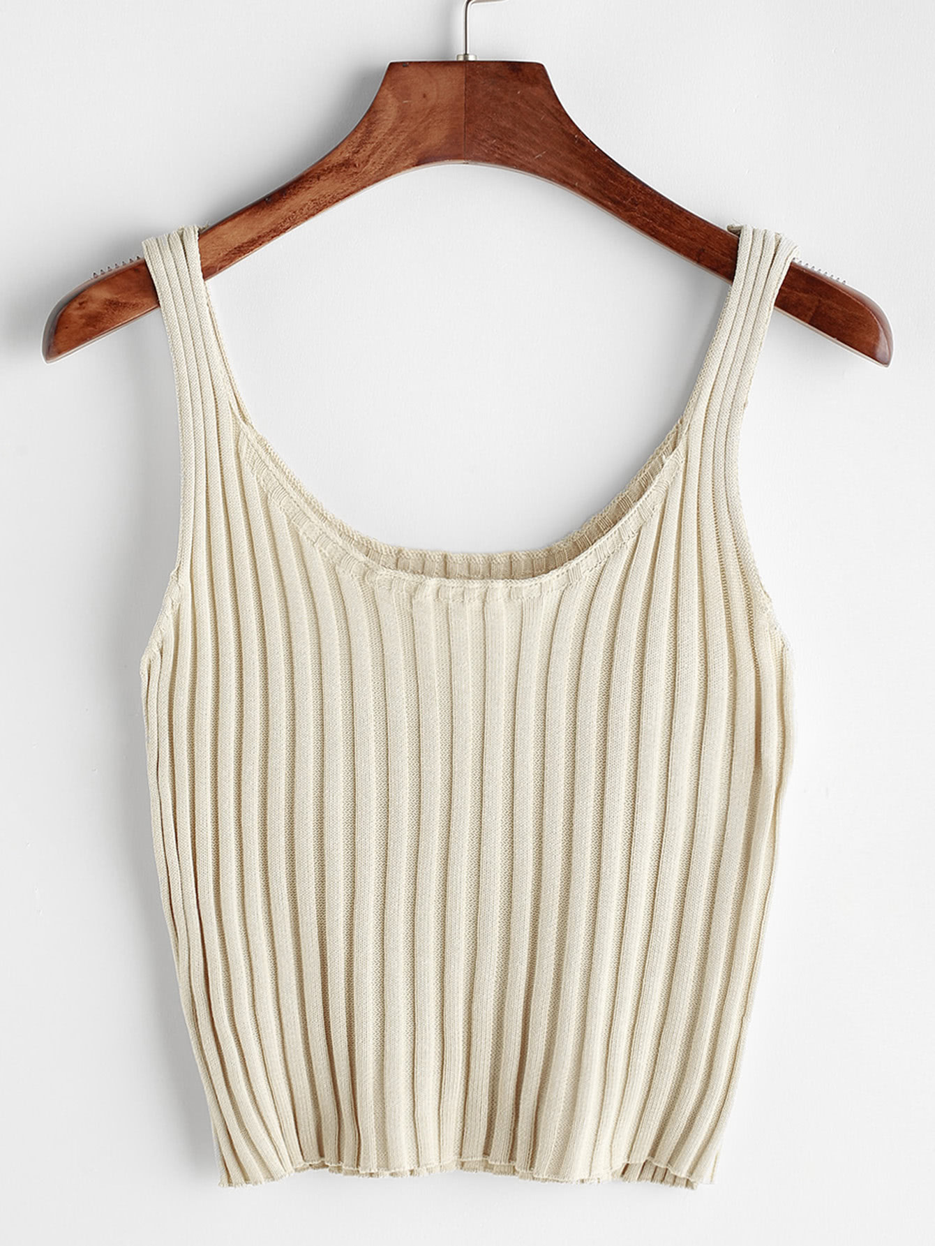 Ribbed Knitted Cami Top RVES170327101
