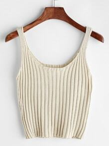 Ribbed Knitted Cami Top