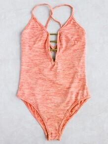 Ladder Cutout One-Piece Swimwear