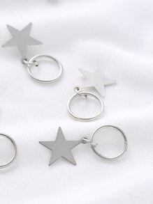 Ensemble de bague en forme d'étoile