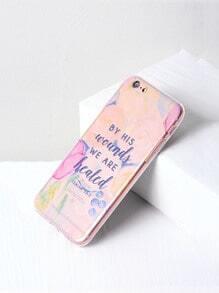 Funda para iPhone 6/6s transparente con estampado de letra