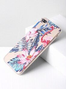 Leaf And Flower Print iPhone 7 Plus Case