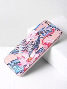 Funda para iPhone 6 Plus/6s Plus con estampado de hoja y flor