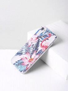 Funda para iPhone 7 con estampado de hoja y flor