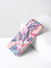 Leaf And Flower Print iPhone 6/6s Case